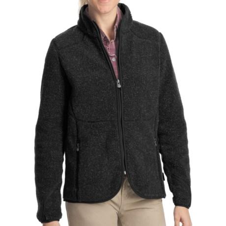 Woolrich High Point Sherpa Jacket - Full Zip (For Women) in Onyx Heather