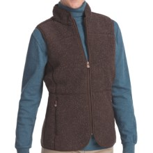 Woolrich High Point Vest - Berber Fleece (For Women) in Dark Roast Heather - Closeouts