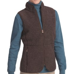 Woolrich High Point Vest - Berber Fleece (For Women) in Onyx Heather