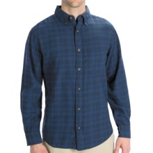 Woolrich High Season Flannel Shirt - Long Sleeve (For Men) in Tonal Deep Indigo - Closeouts