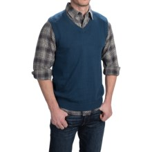 Woolrich Highlands Sweater Vest - V-Neck (For Men) in Atlantic - Closeouts