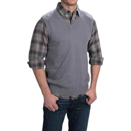 Woolrich Highlands Sweater Vest - V-Neck (For Men) in Dark Ash - Closeouts