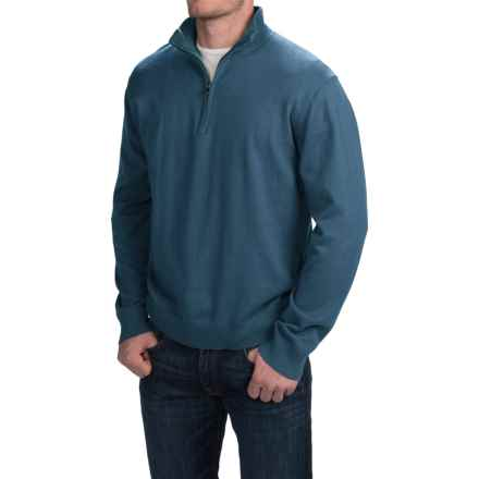 Woolrich Highlands Sweater - Zip Neck (For Men) in Atlantic - Closeouts