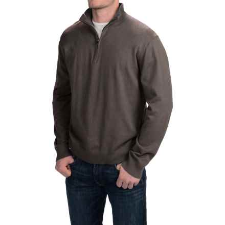 Woolrich Highlands Sweater - Zip Neck (For Men) in Coal - Closeouts