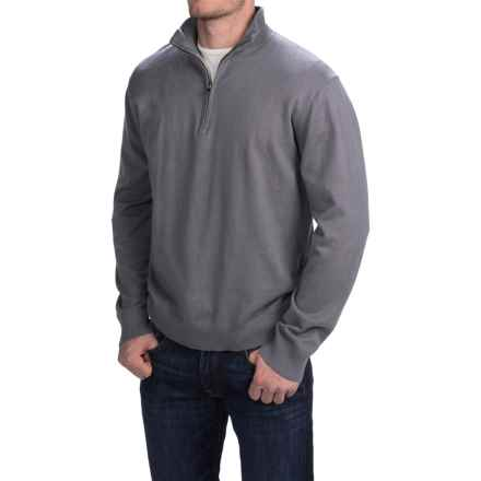 Woolrich Highlands Sweater - Zip Neck (For Men) in Dark Ash - Closeouts