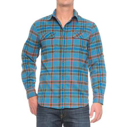 Woolrich Hiker's Trail Flannel Shirt - UPF 50, Roll-Up Long Sleeve (For Men) in Cool Blue - Closeouts