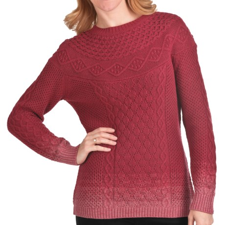 Woolrich Hopewell Cotton Sweater (For Women) in Deep Ruby Ombre