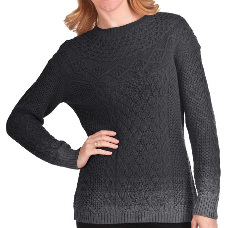 Woolrich Hopewell Cotton Sweater (For Women) in Onyx Ombry