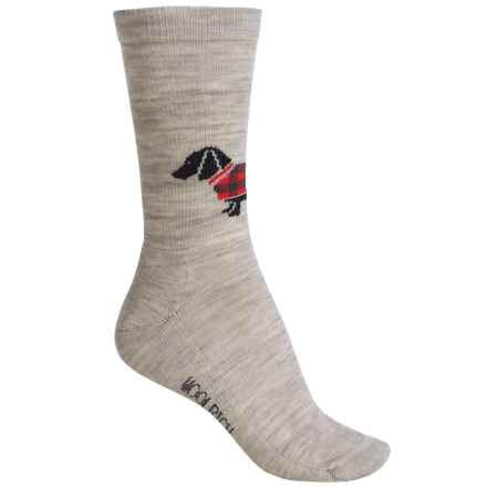 Woolrich Hound Socks - Merino Wool, Crew (For Women) in Oatmeal - Closeouts
