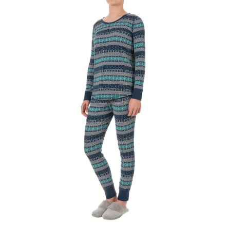 Woolrich Huckleberry Thermal Pajamas - Long Sleeve (For Women) in Atlantic Fair Isle - Closeouts
