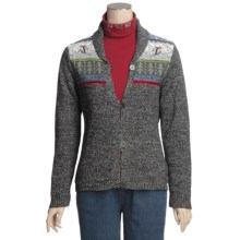 Woolrich Idella Cardigan Sweater - Cotton, Button Front (For Women) in Charcoal Heather - Closeouts