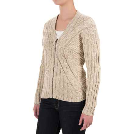 Woolrich Interlaken Cardigan Sweater (For Women) in Natural Marl - Closeouts