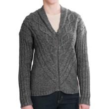 Woolrich Interlaken Cardigan Sweater - Full Zip (For Women) in Black Marl - Closeouts