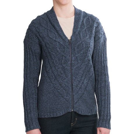 Woolrich Interlaken Cardigan Sweater - Full Zip (For Women) in Deep Indigo Marl