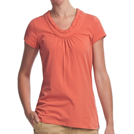 Woolrich Ivy T-Shirt - Stretch Cotton, Short Sleeve (For Women) in Calypso