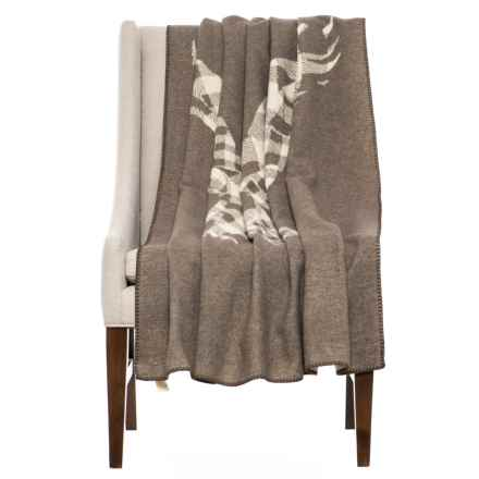 "Woolrich Jacquard Eagle Wool Throw Blanket - 46x60"" in Asst - Closeouts"