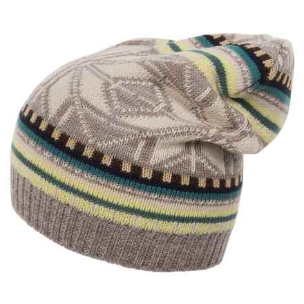 Woolrich Jacquard Slouch Hat (For Women) in Khaki Heather - Closeouts