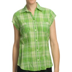 Woolrich Janella Shirt - Cotton, Short Sleeve (For Women) in Sprout