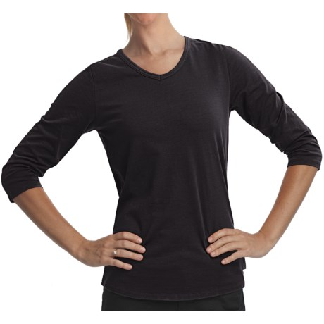 Woolrich Javona Stretch Cotton Tee - UPF 40+, 3/4 Sleeve (For Women) in Black