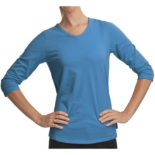 Woolrich Javona Stretch Cotton Tee - UPF 40+, 3/4 Sleeve (For Women) in Light Blue Moon - Closeouts