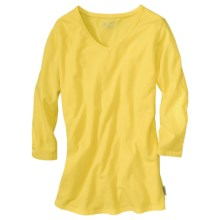 Woolrich Javona Stretch Cotton Tee - UPF 40+, 3/4 Sleeve (For Women) in Sunspot - Closeouts