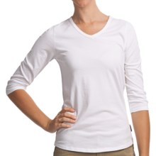 Woolrich Javona Stretch Cotton Tee - UPF 40+, 3/4 Sleeve (For Women) in White - Closeouts