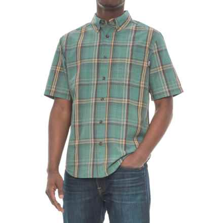Woolrich Juniata Plaid Shirt - Short Sleeve (For Men) in Silver Pine - Overstock