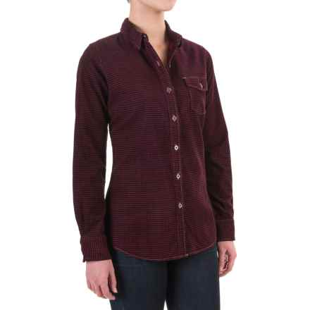 Woolrich Juniper Valley Corduroy Shirt - Washed Cotton (For Women) in Black Multi - Closeouts