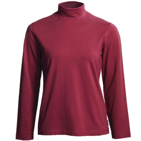 Woolrich Kalista Cotton Mock Neck - Reflex Stretch, Long Sleeve (For Women) in Ruby