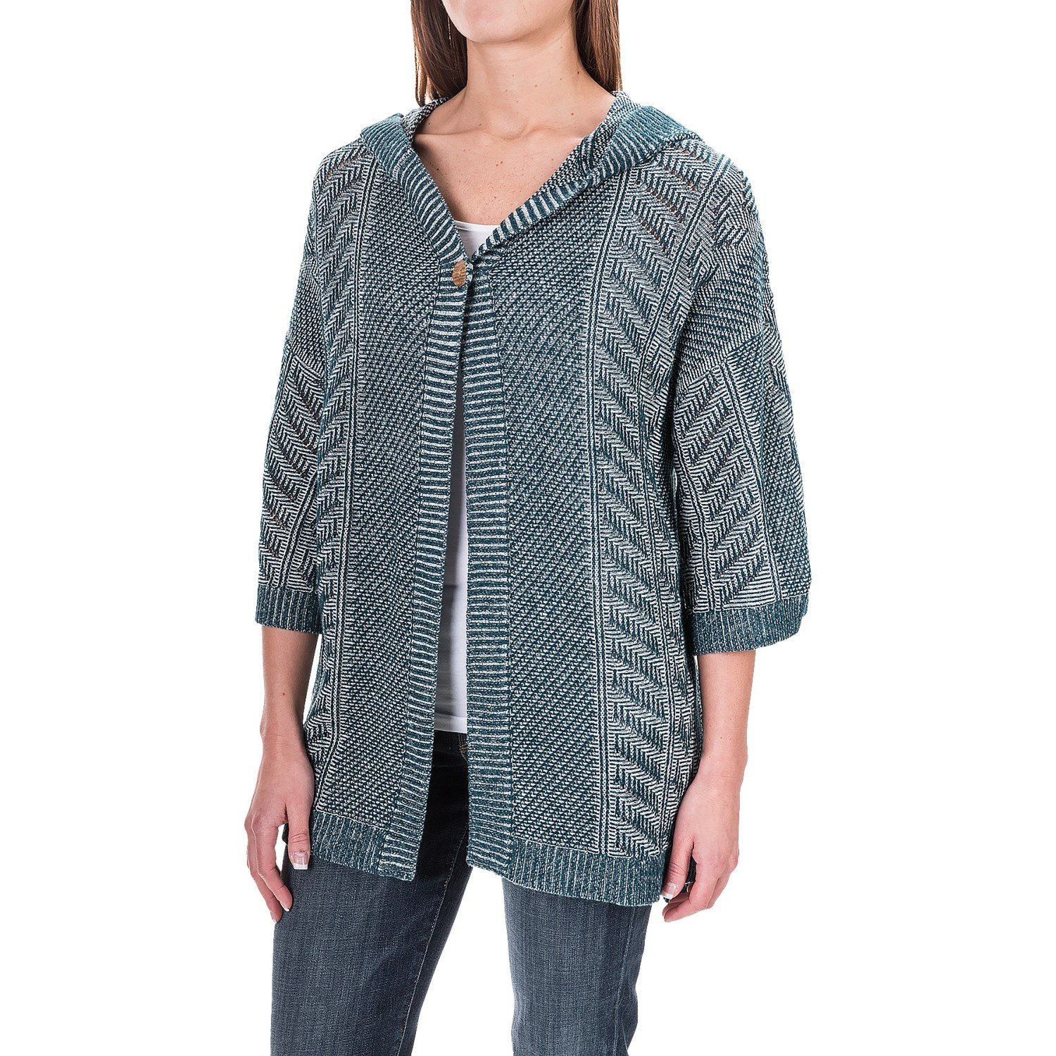 Woolrich Katie Bird Hooded Cardigan Sweater (For Women)