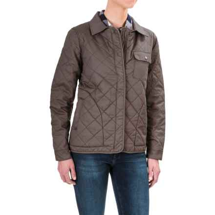 Woolrich Keepsake Quilted Shirt Jacket - Fully Lined (For Women) in Grey - Closeouts