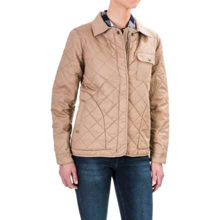 Woolrich Keepsake Quilted Shirt Jacket - Fully Lined (For Women) in Warm Khaki - Closeouts
