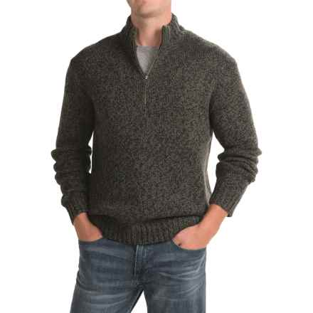 Woolrich Kennebeck Rag Sweater - Zip Neck (For Men) in Olive Khaki Twist - Closeouts