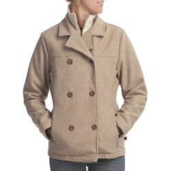 Woolrich Kensal Wool Pea Coat - Taffeta Lined (For Women) in Oatmeal Heather