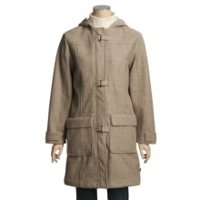 Woolrich Kensal Wool Stadium Coat - Taffeta Lined (For Women) in Oatmeal Heather - Closeouts