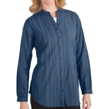Woolrich Kenyon Tunic Shirt - Washed Cotton Dobby, Long Sleeve (For Women) in Copen - Closeouts