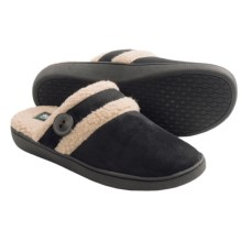 Woolrich Kettle Creek Slippers - Suede, Faux-Fur Lining (For Women) in Black - Closeouts