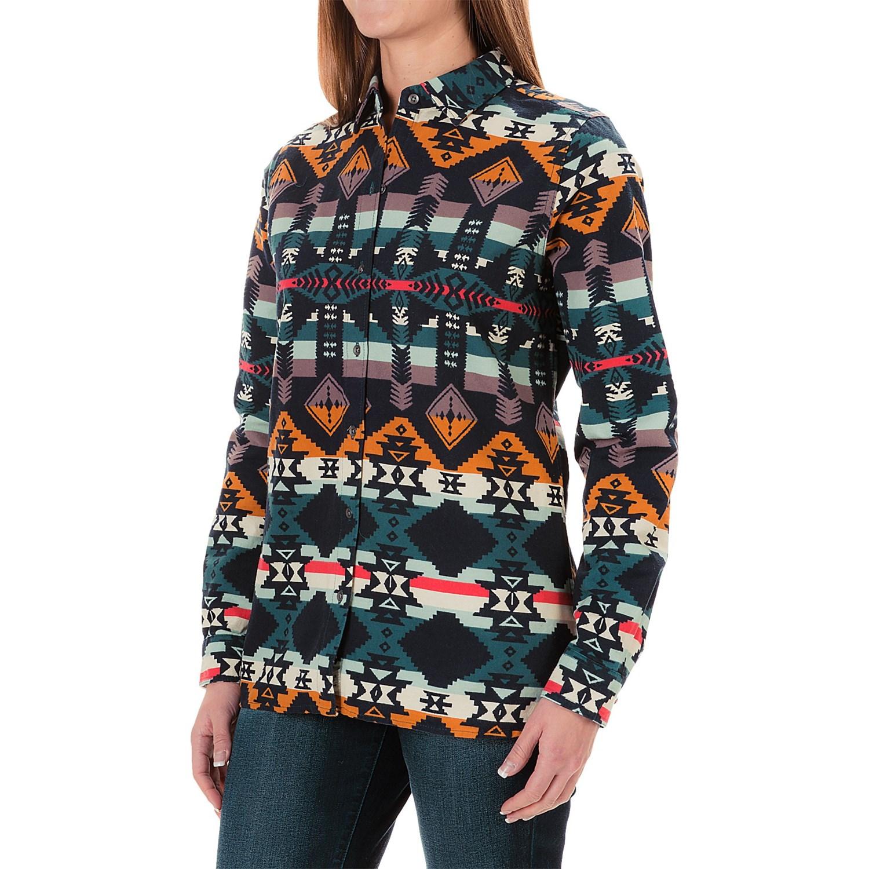 Woolrich Keystone Printed Chamois Shirt (For Women)