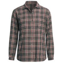 Woolrich Kimberton Flannel Shirt - Cotton, Long Sleeve (For Women) in Onyx - Closeouts