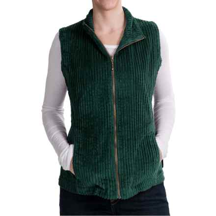 Woolrich Kinsdale Vest - Corduroy (For Women) in Deep Forest - Closeouts