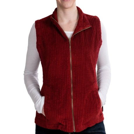Woolrich Kinsdale Vest - Corduroy (For Women) in Deep Ruby