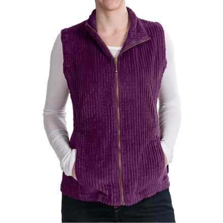 Woolrich Kinsdale Vest - Corduroy (For Women) in Eggplant - Closeouts