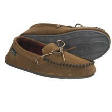 Woolrich Kirkwood Slippers - Suede, Fleece Lining (For Men) in Tobacco - Closeouts