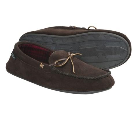 Woolrich Kirkwood Slippers - Suede, Fleece Lining (For Men) in Wood