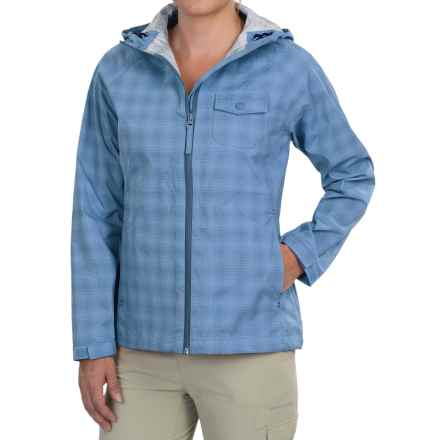 Woolrich Kristie Plaid Rain Jacket - Waterproof, UPF 40+ (For Women) in Chambray - Closeouts