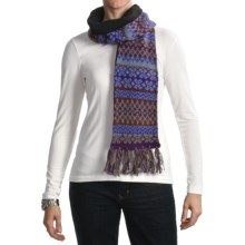 Woolrich Kylee Scarf - Wool-Angora, Jacquard Print (For Women) in Purple - Closeouts