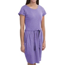 Woolrich Lakeside Knit Dress - Cotton Jersey, Short Sleeve (For Women) in Dusk - Closeouts
