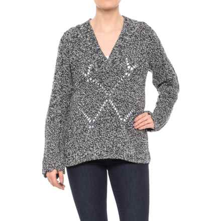 Woolrich Lambswool-Blend Sweater - V-Neck (For Women) in Black - Closeouts