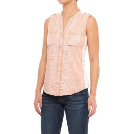 Woolrich Laurel Bay Shirt - Organic Cotton, Sleeveless (For Women) in Desert Sun - Closeouts