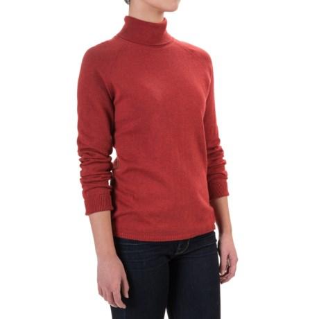 Woolrich Laurel Run Turtleneck Sweater (For Women) in Old Red Heather